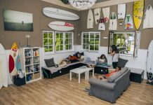 Interior Latas Surfhouse