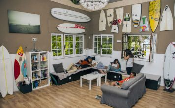 Interior Latas Surfhouse