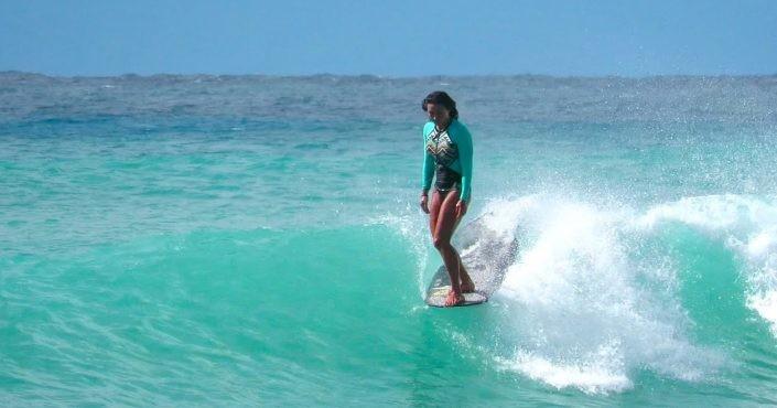 Surfing en longboard
