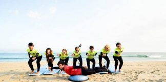 Alumnos en Art Surf Camp