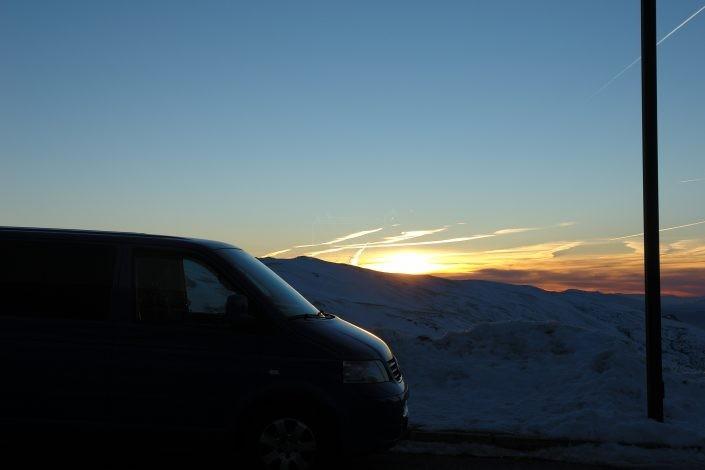 Furgoneta en Sierra Nevada