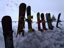 Tablas de snowboard en Astún