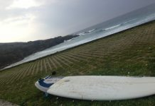 Tabla de surf playa