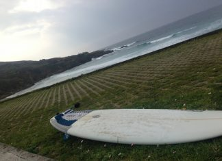 Tabla de surf playa