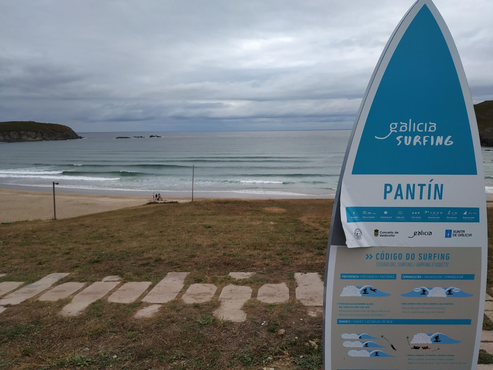 Playa de Pantín en Galicia
